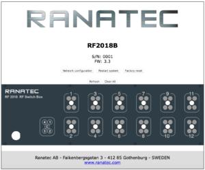 RF2018B Solid State Switch box web-interface | Ranatec