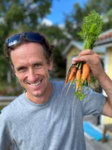 Magnus Kilian with carrots | Ranatec