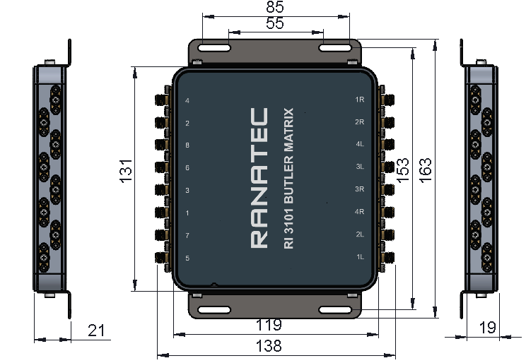 Butler matrix used for wireless test applications using microstrip technology | Ranatec